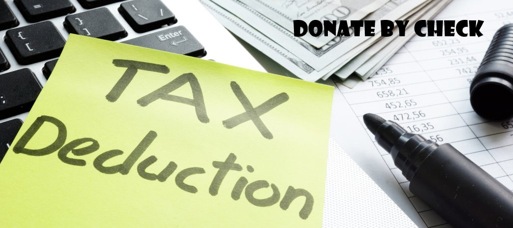 About donate by check tax deductions